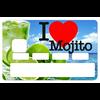 Stickers autocollant pour carte bancaire, I LOVE MOJITO été 2018, par le DgedeNice