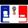 Sticker pour carte bancaire, coupe du monde Russie 2018