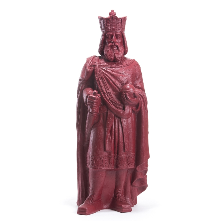 Statuette-CHARLEMAGNE-purple-red-Ottmar- Hörl-the-little-boutique