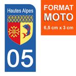 05-HAUTES-ALPES-sticker-plaque-immatriculation-moto-DROIT