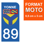 89-YONNE-sticker-plaque-immatriculation-moto-DROIT-13-HARLEY-DAVIDSON