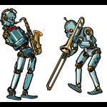 robot-saxo-trombone-musiciens-sticker-macbook-thelittleboutique