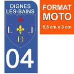 04-DINES-LES-BAINS-sticker-plaque-immatriculation-moto-DROIT