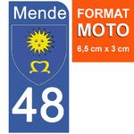 48 MENDE-sticker-plaque-immatriculation-moto-DROIT
