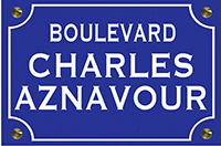 PM PLAQUE DE RUE CHARLES AZNAVOUR THE LITTLE STICKER