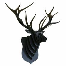 CERF-marius-noir-animatomy-trophée-3D-the-little-boutique-1