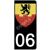 PM sticker-personnalisé-NOIR-pour-plaque-immatriculation-AUTO-NUM-DEPARTEMENT
