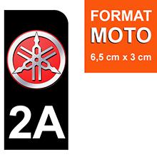 pm 2A-YAMAHA-NOIR-sticker-plaque-immatriculation-moto-DROIT