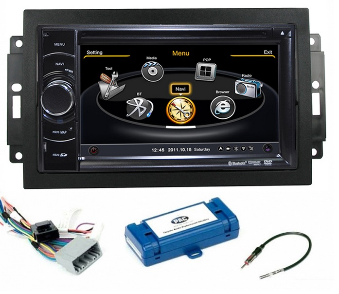 Vehicle Stereo Gps Navigation For Chrysler 300c Jeep Dodge: Autoradio Android Dodge Mains Libres USB