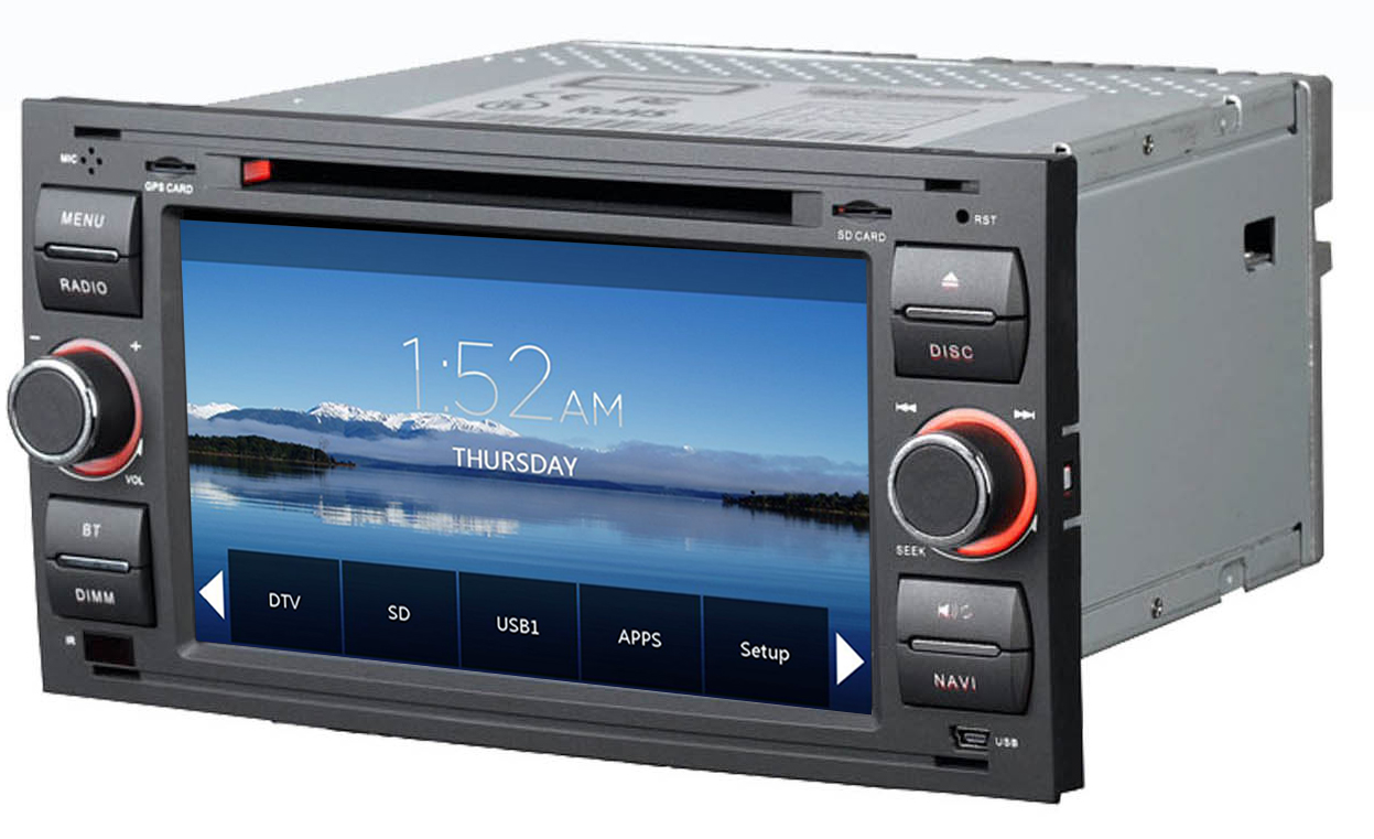 poste gps ford kuga c max auto radio dvd mondeo transit autoradios gps. Black Bedroom Furniture Sets. Home Design Ideas