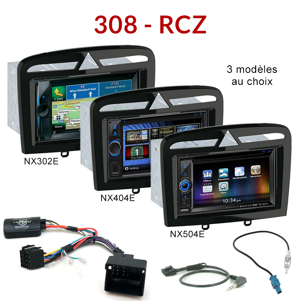 autoradio gps peugeot 308 rcz cran tactile dvd 6 2 bluetooth autoradios. Black Bedroom Furniture Sets. Home Design Ideas