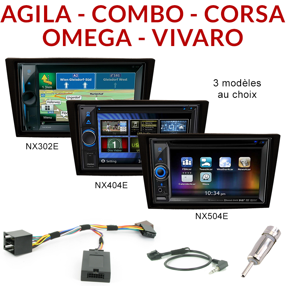 autoradio 2 din gps dvd opel agila combo corsa vivaro omega autoradios. Black Bedroom Furniture Sets. Home Design Ideas