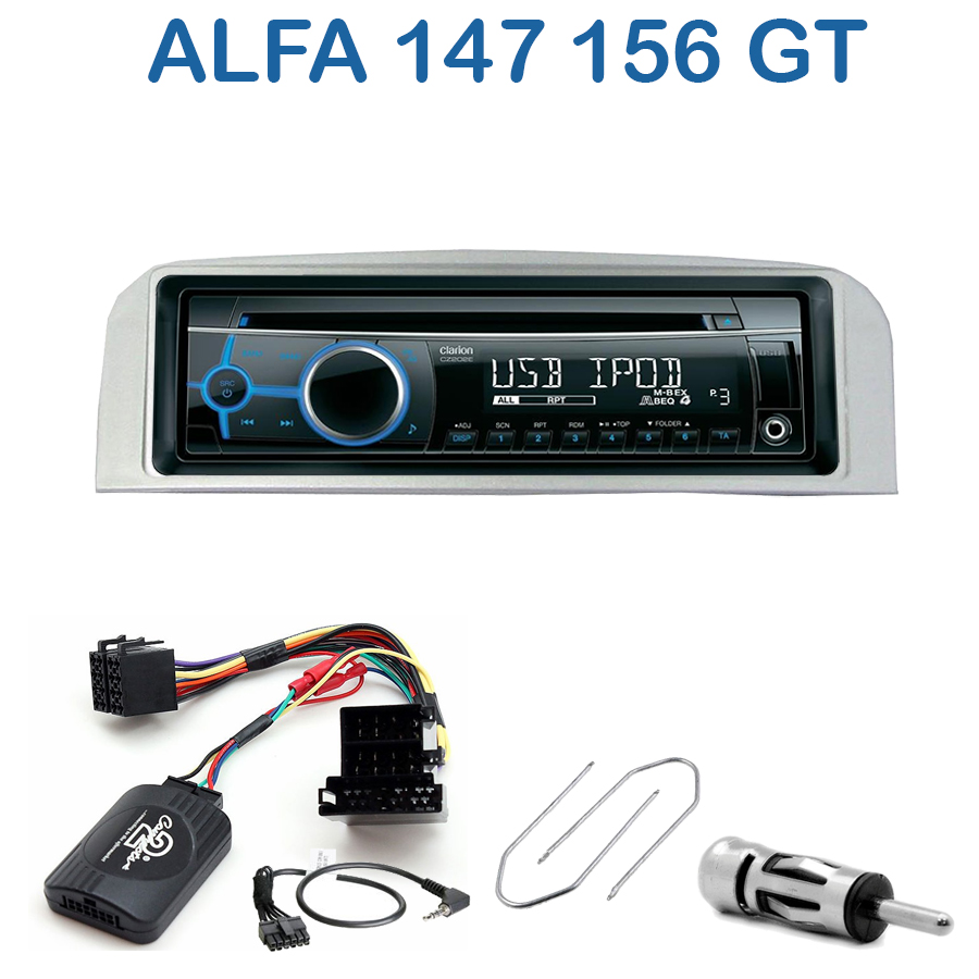 autoradio 1 din alfa romeo 147 156 gt avec cd usb mp3. Black Bedroom Furniture Sets. Home Design Ideas
