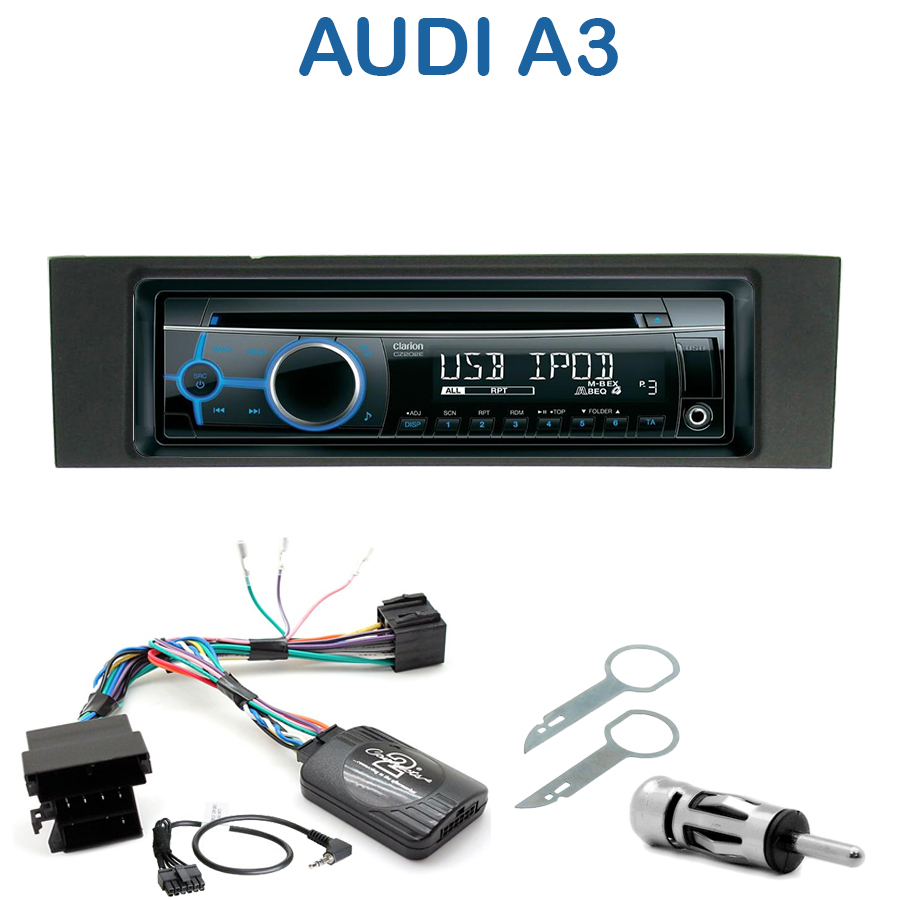 autoradio 1 din audi a3 avec cd usb mp3 bluetooth audi autoradios. Black Bedroom Furniture Sets. Home Design Ideas
