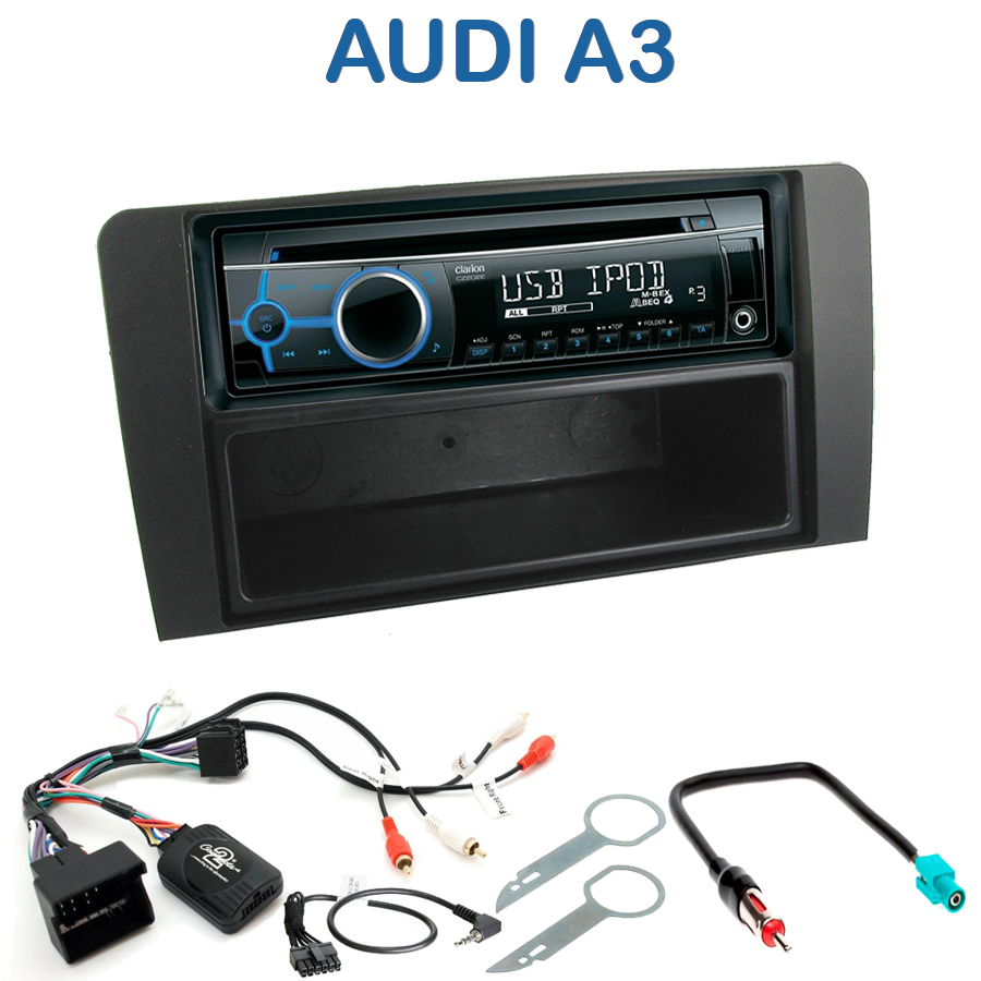 autoradio 1 din audi a3 avec cd usb mp3 bluetooth audi. Black Bedroom Furniture Sets. Home Design Ideas