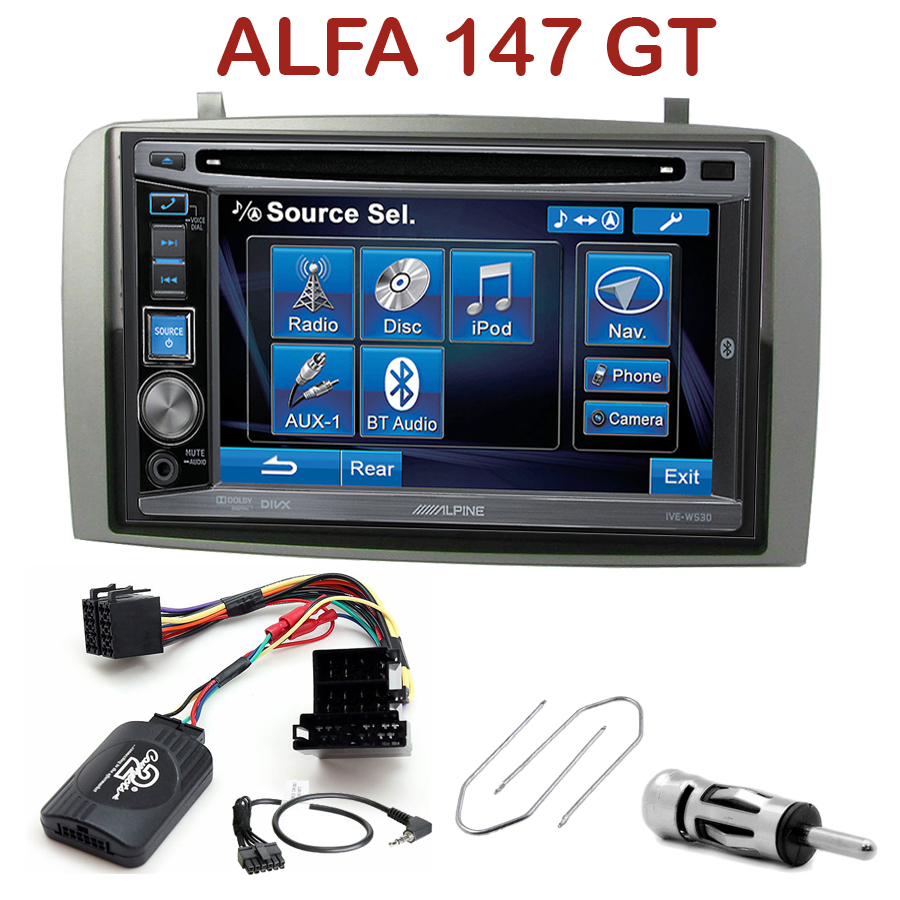autoradio 2 din alpine alfa romeo 147 gt cd usb. Black Bedroom Furniture Sets. Home Design Ideas