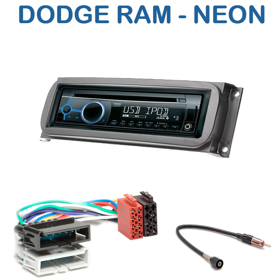 autoradio 1 din dodge ram neon avec cd usb mp3 bluetooth dodge autoradios. Black Bedroom Furniture Sets. Home Design Ideas