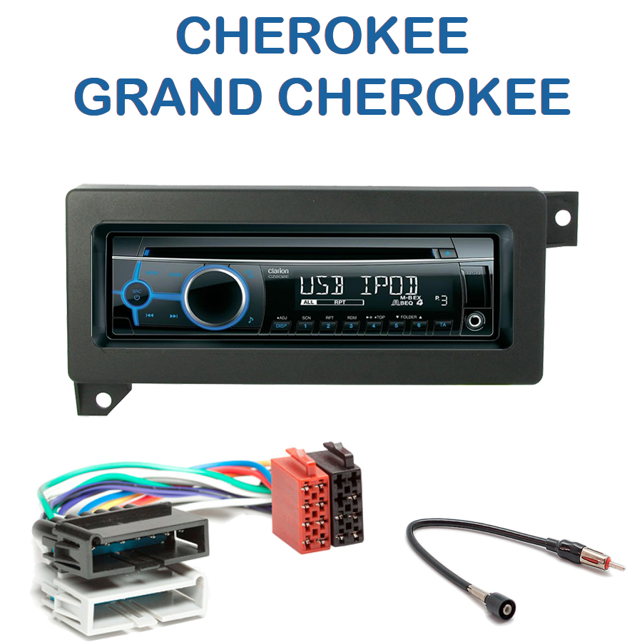 autoradio 1 din jeep cherokee grand cherokee avec cd usb mp3 bluetooth jeep autoradios. Black Bedroom Furniture Sets. Home Design Ideas