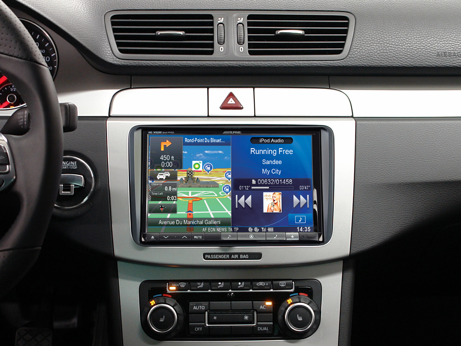 autoradio gps ine w928r ou x801d u volkswagen seat skoda. Black Bedroom Furniture Sets. Home Design Ideas