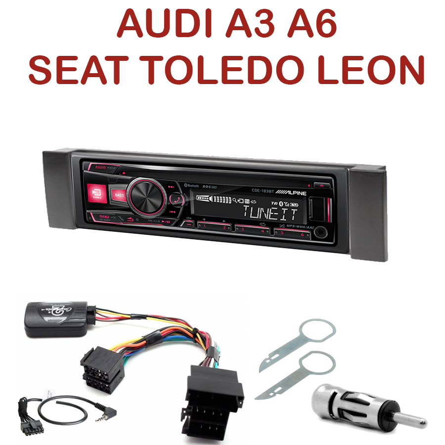 autoradio 1 din audi a3 a6 seat leon toledo poste cd usb mp3 bluetooth alpine audi. Black Bedroom Furniture Sets. Home Design Ideas
