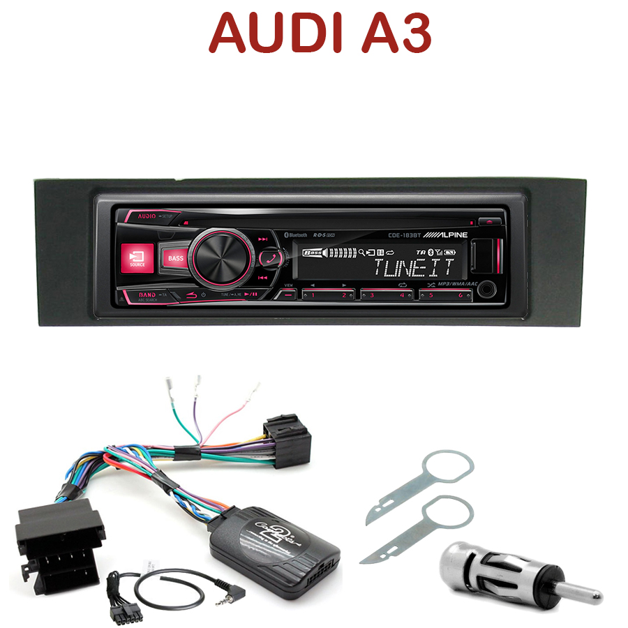 autoradio 1 din audi a3 8p 8pa poste cd usb mp3 bluetooth alpine audi autoradios. Black Bedroom Furniture Sets. Home Design Ideas