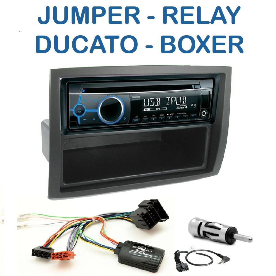 autoradio 1 din citro n jumper relay fiat ducato peugeot boxer avec cd usb mp3 bluetooth. Black Bedroom Furniture Sets. Home Design Ideas