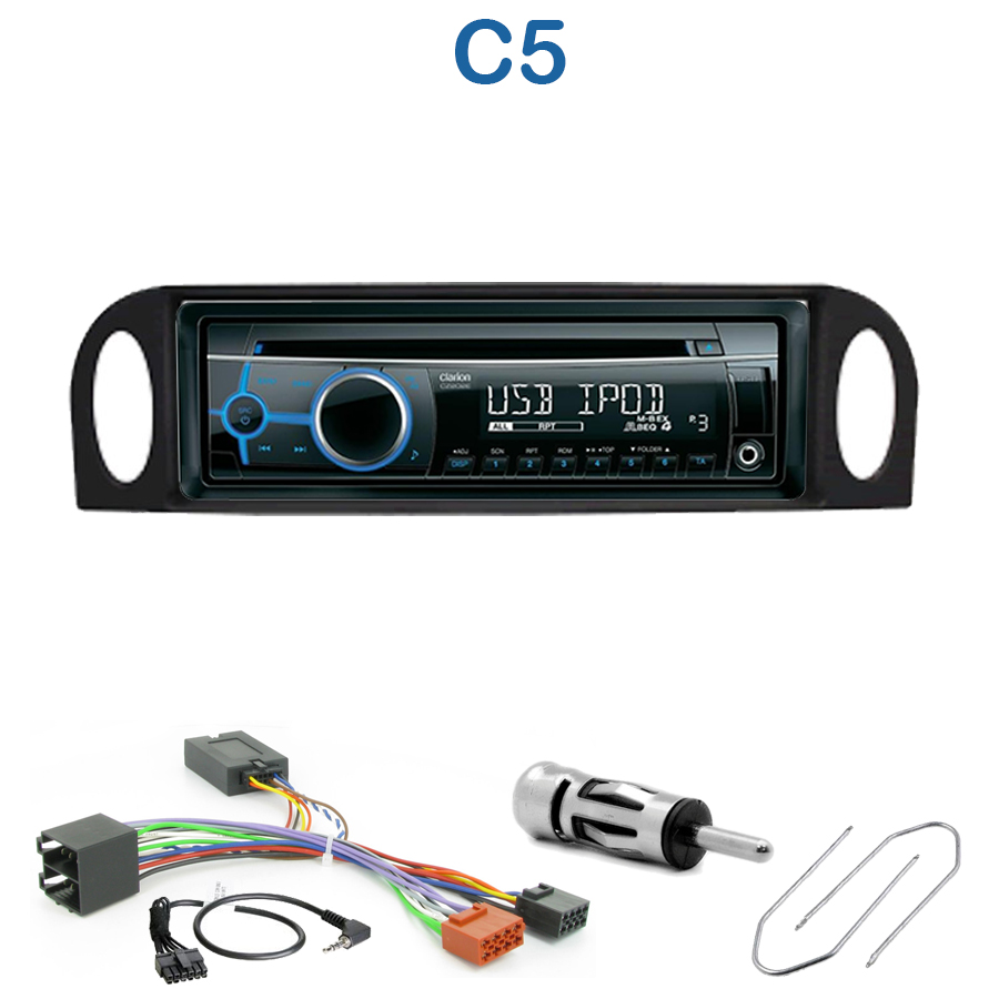 autoradio 1 din citro n c5 de 2001 2004 avec cd usb mp3. Black Bedroom Furniture Sets. Home Design Ideas
