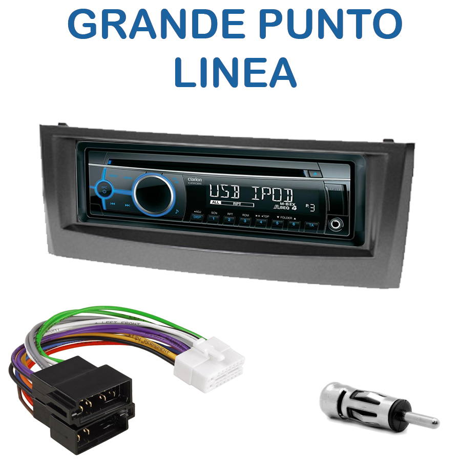 autoradio 1 din fiat grande punto linea poste cd usb mp3 wma clarion fiat autoradios. Black Bedroom Furniture Sets. Home Design Ideas