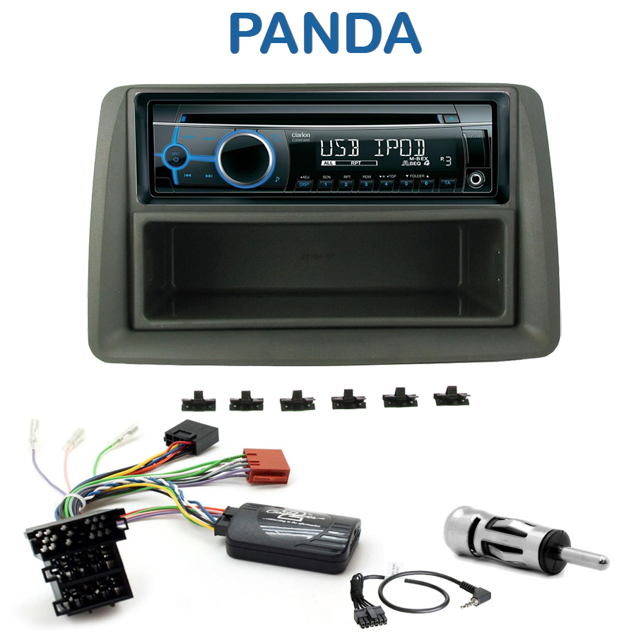 autoradio 1 din fiat panda avec cd usb mp3 bluetooth fiat. Black Bedroom Furniture Sets. Home Design Ideas
