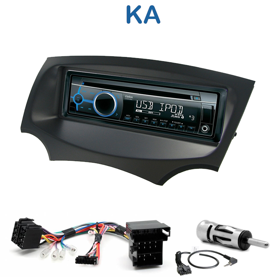 autoradio 1 din ford ka avec cd usb mp3 bluetooth ford autoradios. Black Bedroom Furniture Sets. Home Design Ideas
