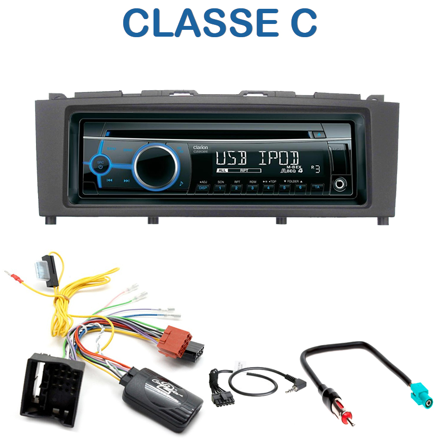 autoradio 1 din mercedes classe c avec cd usb mp3. Black Bedroom Furniture Sets. Home Design Ideas