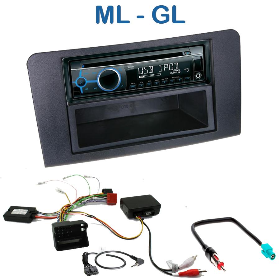 autoradio 1 din mercedes ml gl avec cd usb mp3 bluetooth mercedes autoradios. Black Bedroom Furniture Sets. Home Design Ideas