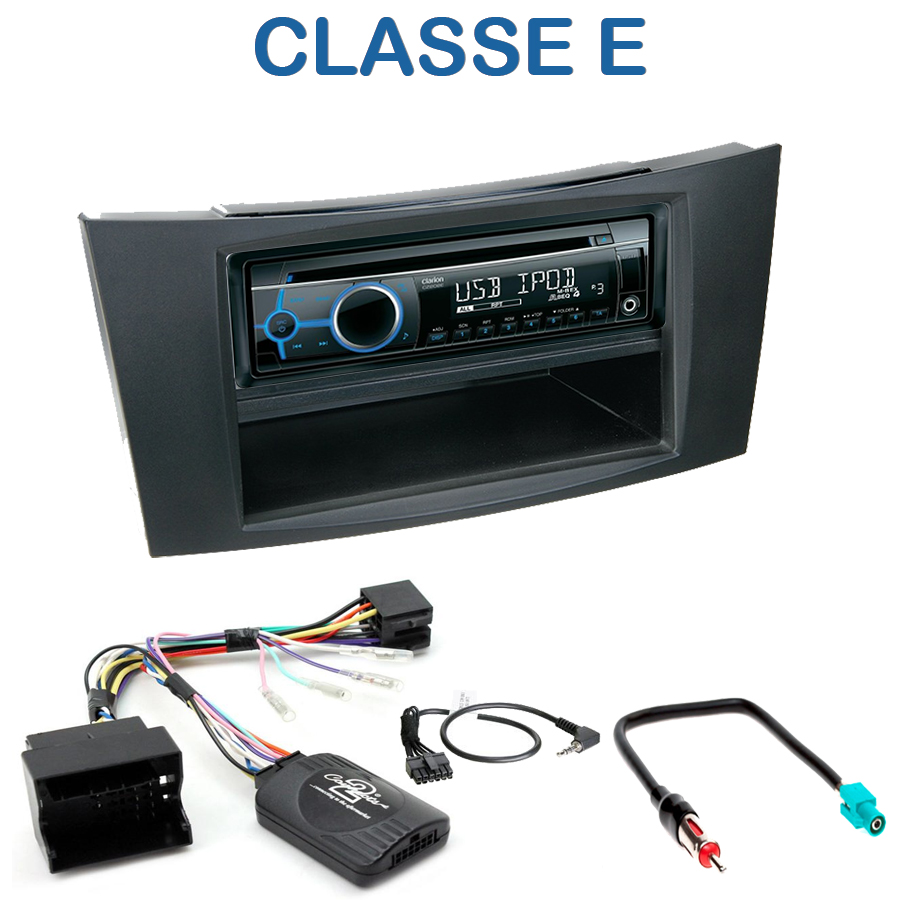 autoradio 1 din mercedes classe e limousine avec cd usb. Black Bedroom Furniture Sets. Home Design Ideas