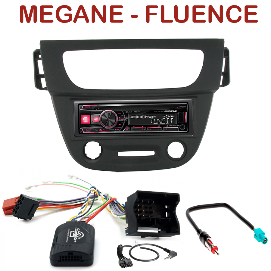 autoradio 1 din renault megane iii fluence poste cd usb mp3 bluetooth alpine renault. Black Bedroom Furniture Sets. Home Design Ideas
