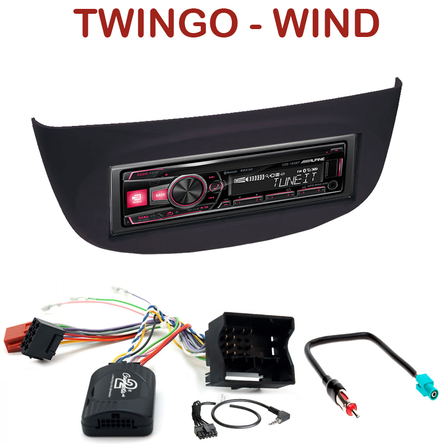 autoradio 1 din renault twingo ii wind poste cd usb mp3 bluetooth alpine renault. Black Bedroom Furniture Sets. Home Design Ideas