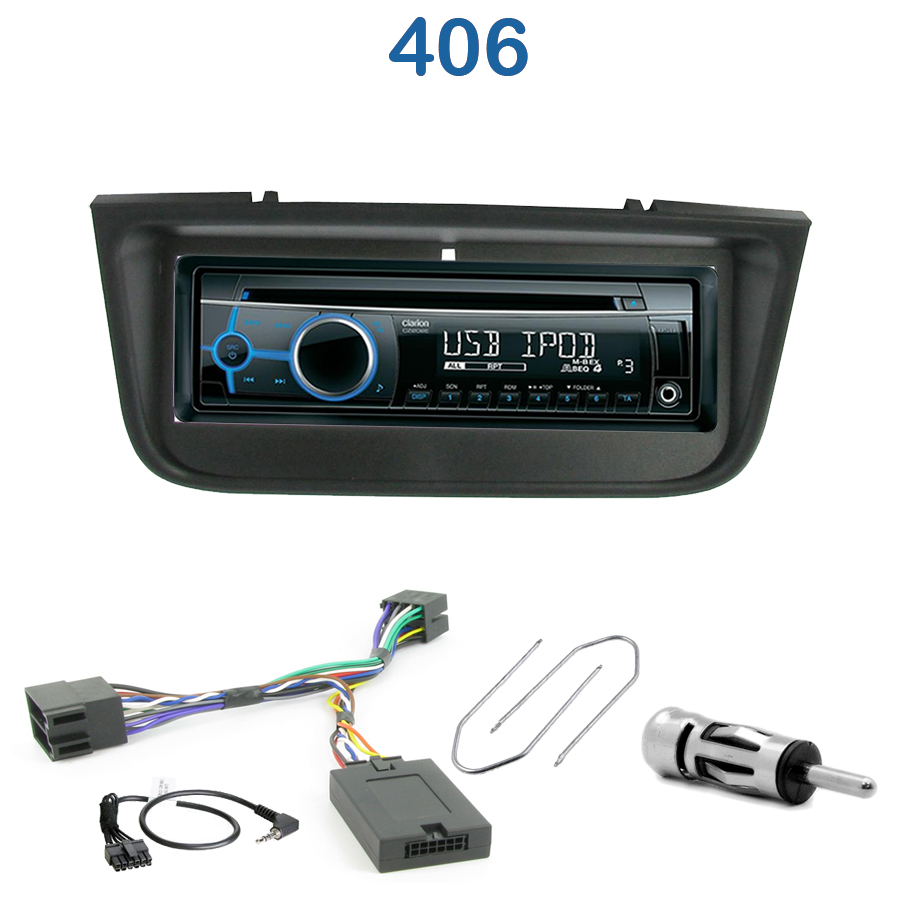 autoradio 1 din peugeot 406 poste cd usb mp3 wma clarion. Black Bedroom Furniture Sets. Home Design Ideas