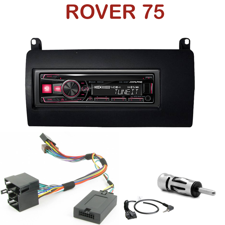 autoradio 1 din rover 75 poste cd usb mp3 bluetooth alpine rover autoradios. Black Bedroom Furniture Sets. Home Design Ideas