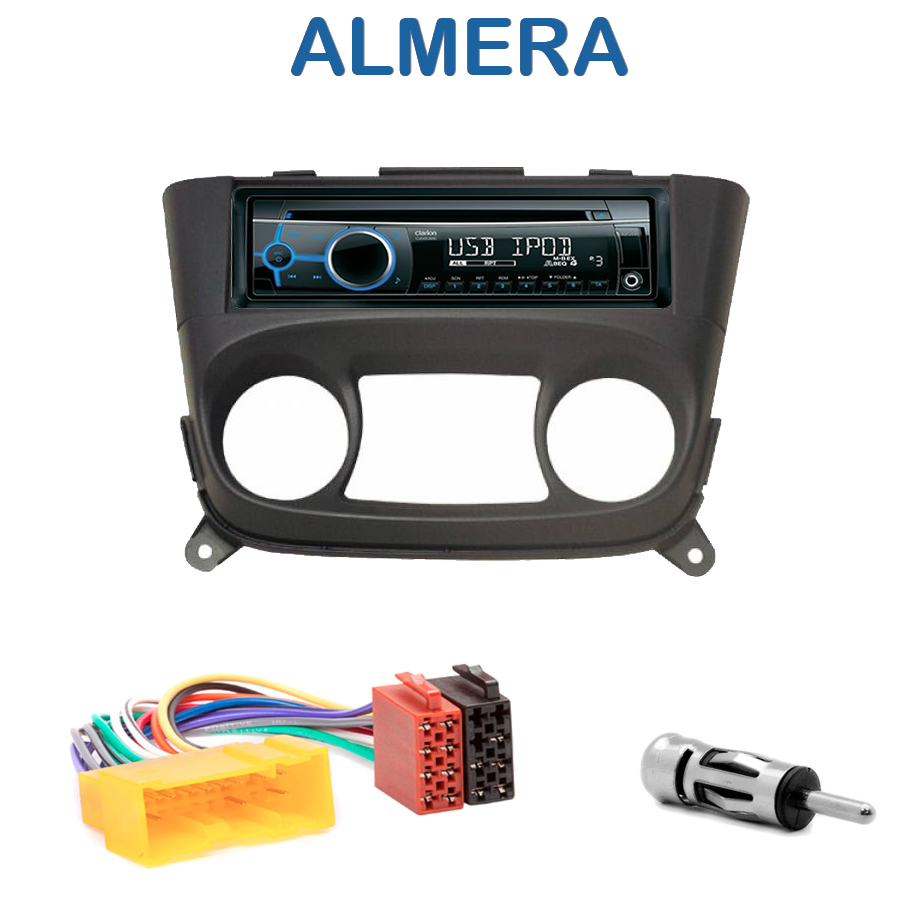 autoradio 1 din nissan almera avec cd usb mp3 bluetooth. Black Bedroom Furniture Sets. Home Design Ideas