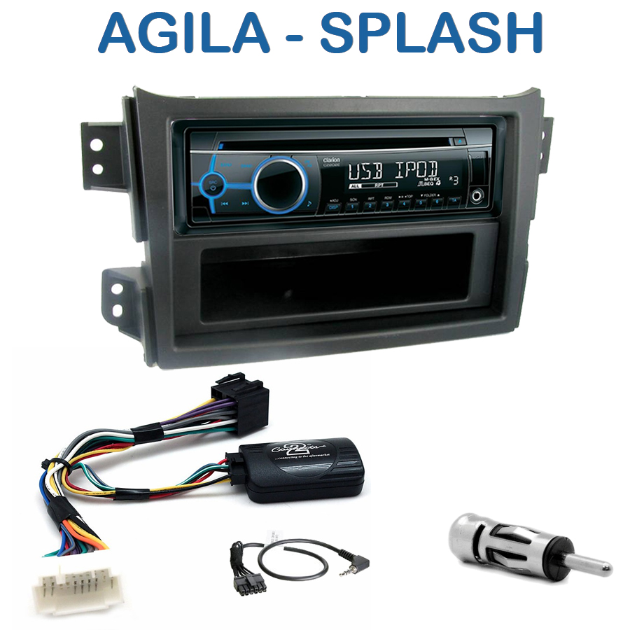 autoradio 1 din opel agila suzuki splash avec cd usb mp3. Black Bedroom Furniture Sets. Home Design Ideas