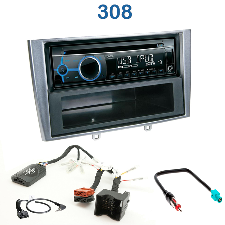 autoradio 1 din peugeot 308 avec cd usb mp3 bluetooth peugeot autoradios. Black Bedroom Furniture Sets. Home Design Ideas