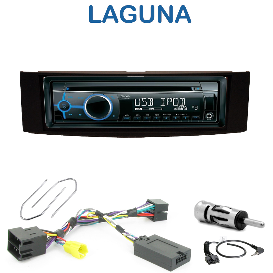 autoradio 1 din renault laguna 2 poste cd usb mp3 wma clarion renault autoradios. Black Bedroom Furniture Sets. Home Design Ideas
