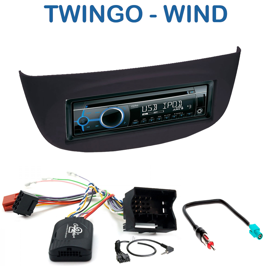 autoradio 1 din renault wind twingo avec cd usb mp3 bluetooth renault autoradios. Black Bedroom Furniture Sets. Home Design Ideas