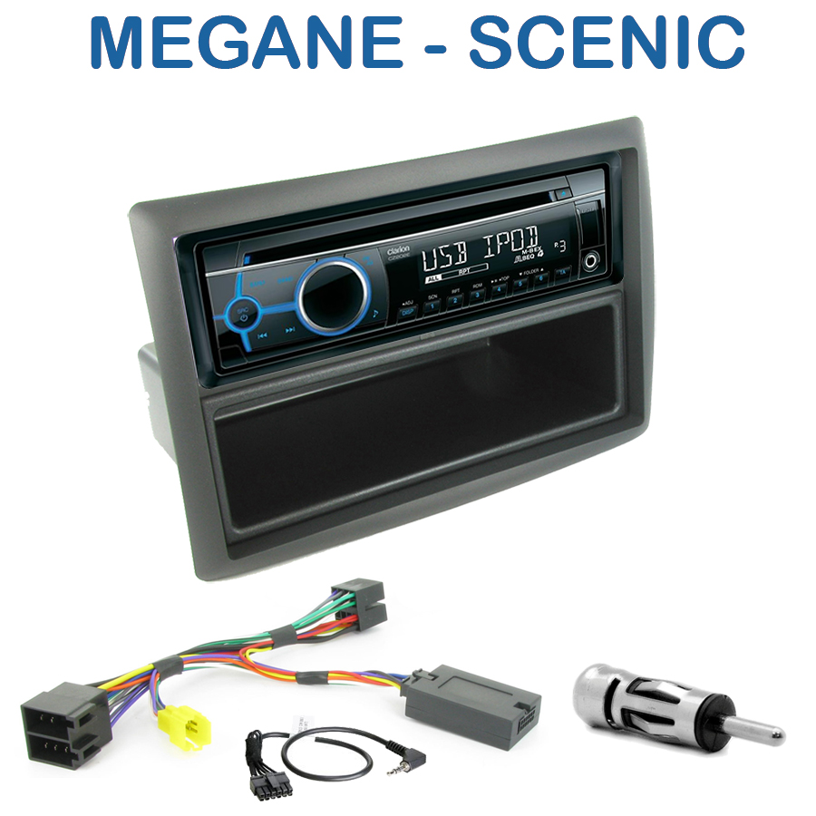 autoradio 1 din renault megane ii scenic ii avec cd usb. Black Bedroom Furniture Sets. Home Design Ideas