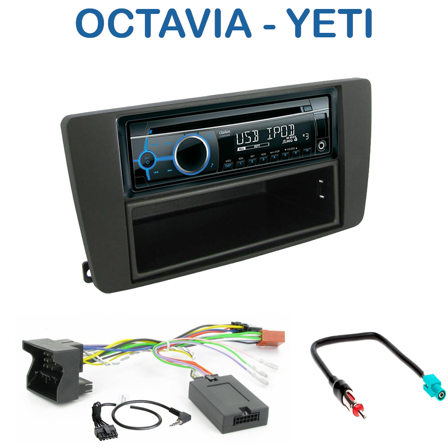 autoradio 1 din skoda octavia yeti avec cd usb mp3 bluetooth skoda autoradios. Black Bedroom Furniture Sets. Home Design Ideas