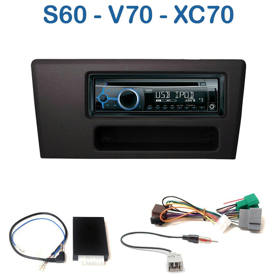 autoradio 1 din volvo s60 v70 avec cd usb mp3 bluetooth. Black Bedroom Furniture Sets. Home Design Ideas