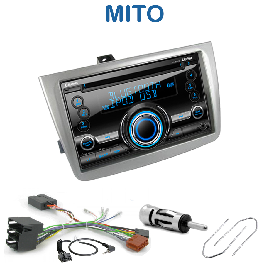 autoradio 2 din clarion poste cd usb mp3 wma alfa romeo mito autoradios. Black Bedroom Furniture Sets. Home Design Ideas