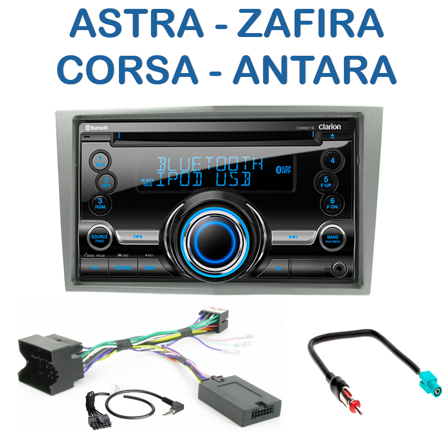 autoradio 2 din clarion poste cd usb mp3 wma opel astra. Black Bedroom Furniture Sets. Home Design Ideas