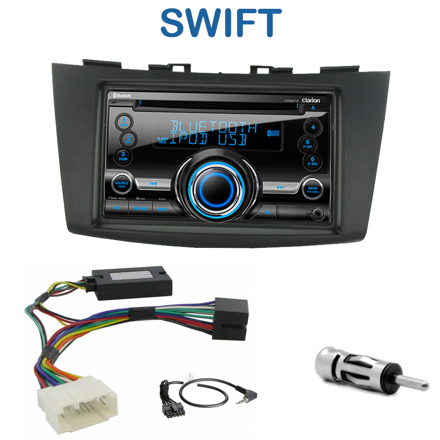 autoradio 2 din clarion poste cd usb mp3 wma suzuki swift autoradios. Black Bedroom Furniture Sets. Home Design Ideas