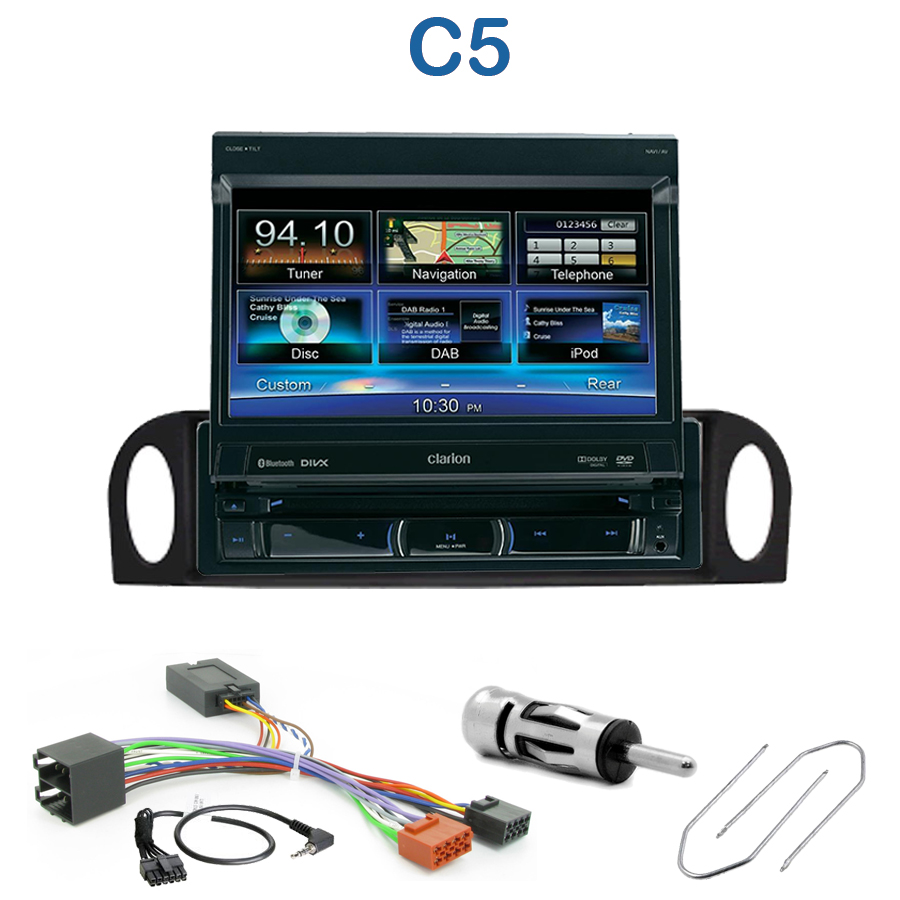 autoradio 1 din gps cran motoris citro n c5 de 2001 2004 nz502e clarion gps choix de l. Black Bedroom Furniture Sets. Home Design Ideas