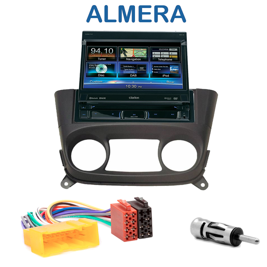 autoradio clarion 1 din gps cran motoris nissan almera autoradios. Black Bedroom Furniture Sets. Home Design Ideas